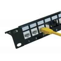 Buy cheap CAT5E Patch Panel - 12 Port, 1U, Rack Mount from wholesalers