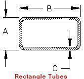 A36 Hot Rolled Rectangular Steel Tubing