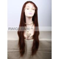 Buy cheap Indian remy hair 22〃 Red highlighted Blonde Straight Human hair Full lace wigs from wholesalers