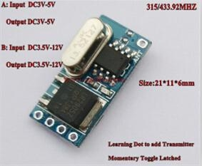 Quality DC3V-36V Micro Receiver Transmitter DC3V-5V DC3.5V-12V Mos Receiver for sale