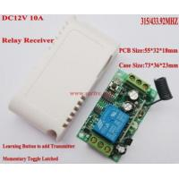 Buy cheap DC12V Relay Receiver Transmitter DC12V 1CH 10A Relay Receiver Learning product