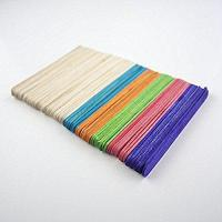 China 80 x Large Jumbo Flat Coloured Wooden Lollipop Ice Lolly Sticks Art Craft by sixstore on sale