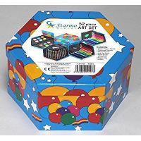 Buy cheap Starmo Childrens 52 Pcs Craft Art Artists Set Hexagonal Box Crayons Paints Pens Pencils by Starmo from wholesalers