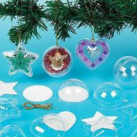 Buy cheap Glitter Baubles for Children to Create and Hang on Christmas Tree (Pack of 9) from Baker Ross from wholesalers