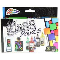 Grafix Set Of 5 Glass Paints - Make & Design Your Own Glass Art ! by rmc
