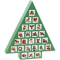 Buy cheap Fabulous Quality Wooden Green Christmas Tree Advent Calendar Xmas New & Boxed product