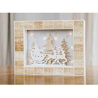 Buy cheap Christmas Advent LED Light Up Calendar, White and Natural from Avenue East product