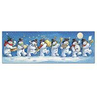 Buy cheap Medici Advent Calendar (MED0540) Snowman Band - Three Fold Four Sided - Flittered product