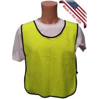 Tight Weave Lime Safety Vests Plain Fabric