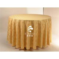 Buy cheap Table Linen Wholesale Luxury Decoration Round Polyester Damask Table Cloth product
