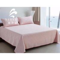 Buy cheap Hot Sale Stripe Design Modern Satin Bed Sheet Set 5 Stat Hotel from wholesalers