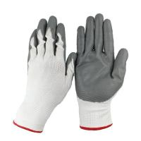 Buy cheap Nitrile Gloves Seamless Knit Nylon Nitrile Black form coated work Glove from wholesalers