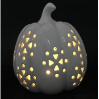 Ceramic Pumpkin Candle Holder