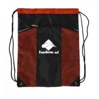 Buy cheap Red Backpack Polyester Drawstring Bag With Pockets , Custom Cinch Sacks from wholesalers