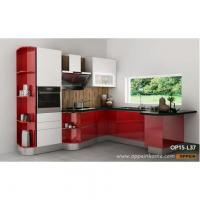 Buy cheap Modern High Gloss Kitchen Cabinet in Red Lacquer OP15-L37 from wholesalers