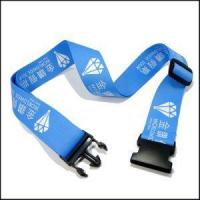 Buy cheap Polyester Blue Choice Luggage Carrier Straps with Custom Logo for Travel from wholesalers