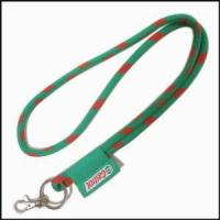 Buy cheap A Label Embroidered High Elastic Cord Woven Logo Round Lanyards from wholesalers