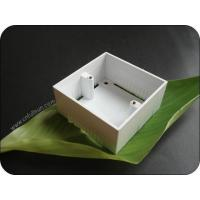 Metal Electrical Box Single Gang 40mm Deep PVC Pattress Box With Brass Nut