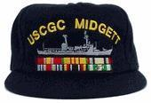 Buy cheap Custom Embroidery Custom Embroidered U.S. Coast Guard Ship's Cap With Ribbons product
