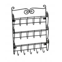 Buy cheap 3 Tier Letter Mail Rack with Key Holder Office Kitchen Wall Mounted Organizer from wholesalers