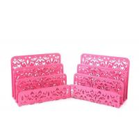 Buy cheap Hollow Flower Metal Desktop Letter Holder 3 Upright Mail Sorter from wholesalers