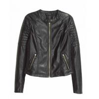 Buy cheap Sexy Slim Black Biker Motorcycle Synthetic PU Leather Zipper Jacket Women Coat from wholesalers