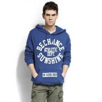 Buy cheap Campus Style Letter Print Pullover Sweater with Hood for Men from wholesalers
