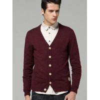 Buy cheap Men's Casual Spot V Neck Long Sleeve Cardigan Sweater 98/38.6 from wholesalers