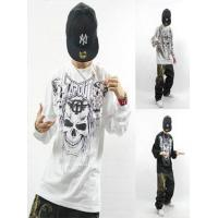 China Spring and Autumn Fashion Skull Heads Print Men Hiphop TAPOUT Long Sleeve T-Shirt on sale