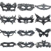 Buy cheap Sexy Costumes 12 Pcs Sexy Black Lace Eye Mask For Women Girls At Costume Halloween Masquerade Party product