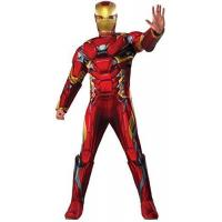 Buy cheap Marvel Men's Captain America: Civil War Deluxe Muscle Chest Iron Man Costume, Multi, One Size from wholesalers