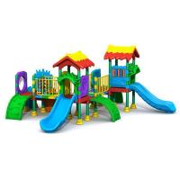 Buy cheap kids amusement park facilities funny children outdoor playground colorful slide toy equipment product