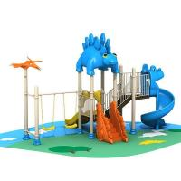 Buy cheap Commercial kids play structure park plastic slides outdoor garden play toys product