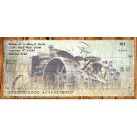 Buy cheap Butterflies Vintage Tractors Personal Checks from wholesalers