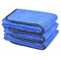 Buy cheap Microfiber Car Wash Cloths 400gsm Two Different Sides for Cleaning Polishing 3-pack 16x24, Bluex3 from wholesalers