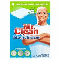 Buy cheap Mr. Clean Magic Eraser Bath Scrubber, 4-Count Pack of 2 from wholesalers