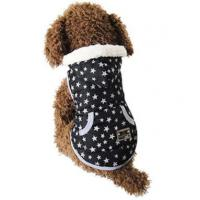 Buy cheap Dog Clothes Black Star Design Fleece Lined Dog Coat from wholesalers