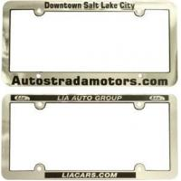 Buy cheap License Plate Frames Metallized Chrome Faced Plastic License Plate Frames from wholesalers