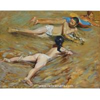 Buy cheap Impressionist Nude Kids Portrait Oil Painting from wholesalers