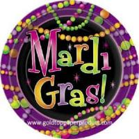 Buy cheap Paper Plate Mardi Gras Beads Paper Plate from wholesalers