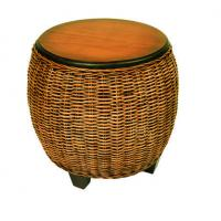 Buy cheap White Wicker Chair Westport Wicker End Table product