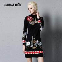embrodery long dress