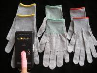 Buy cheap CR0415-2 13G ESD Nylon carbon fibre gloves(Non-PU Coated) from wholesalers