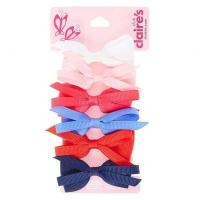 Buy cheap Kids 6 Pack Large Looped Fabric Bows Hair Clips from wholesalers