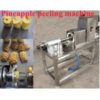 Buy cheap Automatic pineapple corer peeler peeling and coring machine from wholesalers
