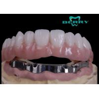 Buy cheap High Retention Bar Attachment Metal Based Dentures For Comestic Defects Implants from wholesalers