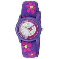 Buy cheap Timex Kids T89022 Time Teacher Purple/Pink Flowers Resin Watch Elastic Fabric Strap from wholesalers