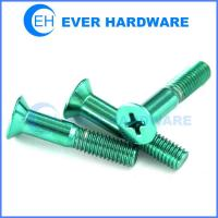 Buy cheap Phillips Head Machine Screw Steel Flat Right Hand Half Threads CSK from wholesalers