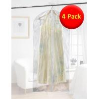 Buy cheap Value Pack 4x Clear Dress Bags - Clear with White Trim from wholesalers