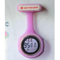 China Unisex Digital Multi Function Silicone Nurses Fob Watch with Safety Pin NS-888 Battery Included on sale